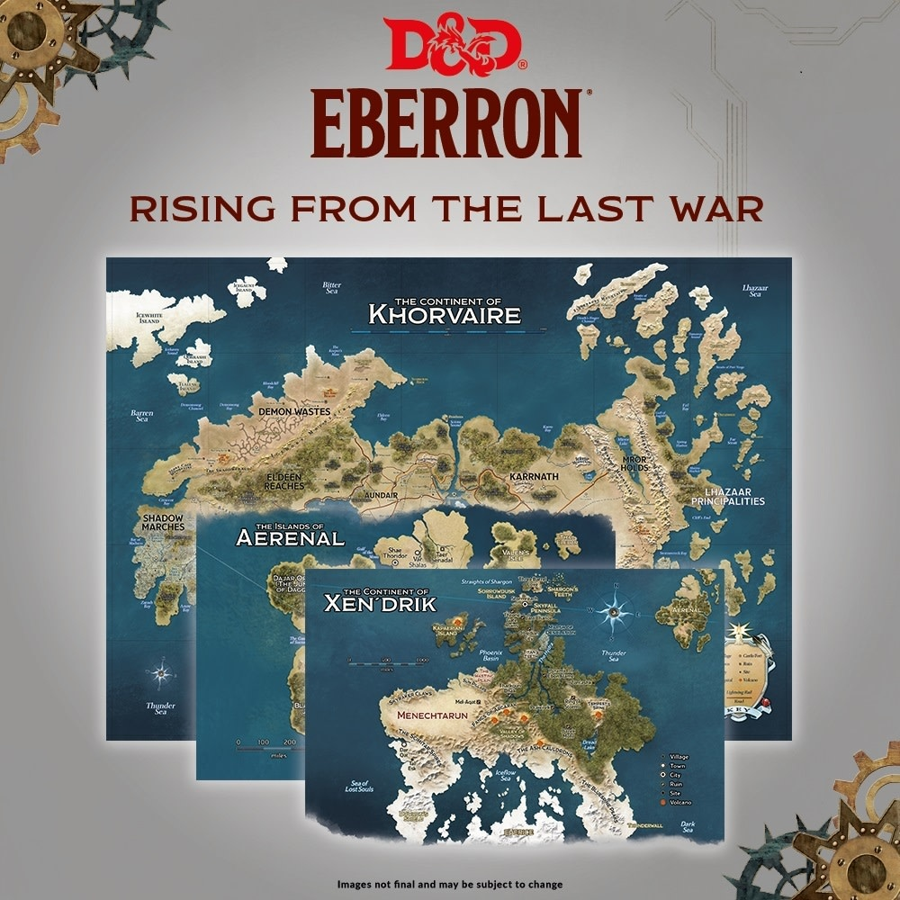 D&D Map Set: Eberron - Nations for Khorvaire