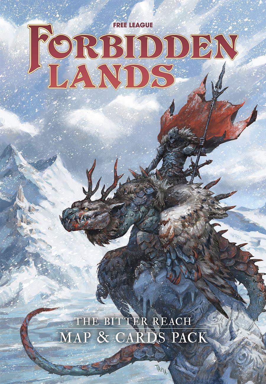 Forbidden Lands : Bitter Reach Map and Card Pack