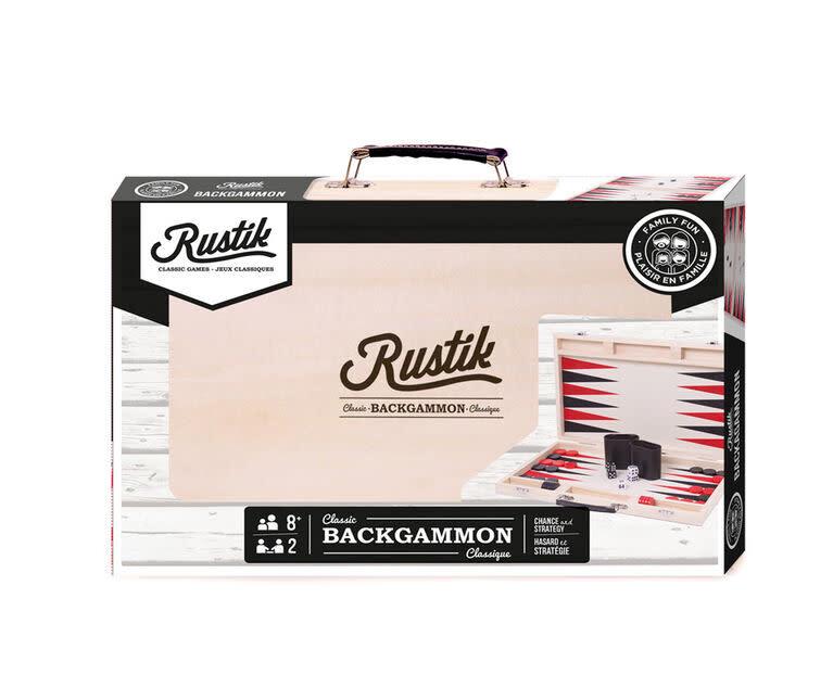 Backgammon Valise en Bois