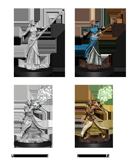 Female Elf Sorcerer - D&D Unpainted Minis (WV12)