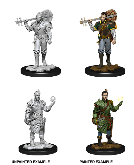 Male Half-Elf Bard - D&D Unpainted Minis (WV12)