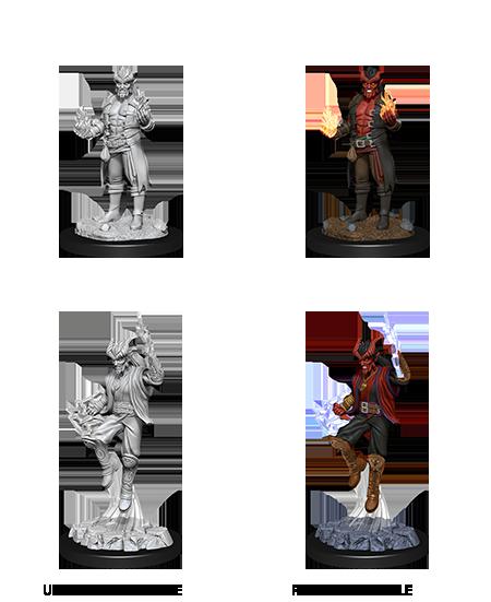 Male Tiefling Sorcerer - D&D Unpainted Minis (WV12)