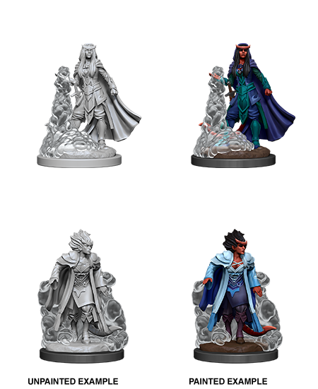 Female Tiefling Sorcerer - D&D Unpainted Minis (WV12)