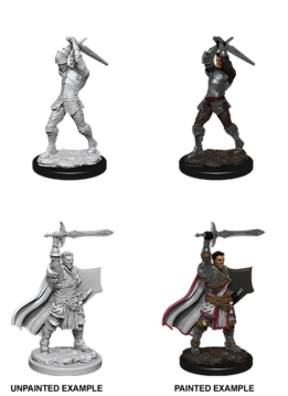 Male Human Paladin - D&D Unpainted Minis (WV12)