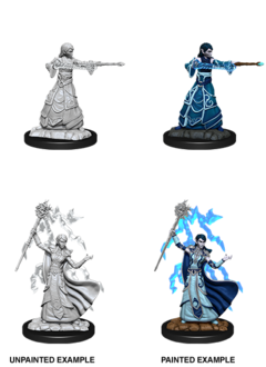 Female Elf Wizard - D&D Unpainted Minis (WV12)
