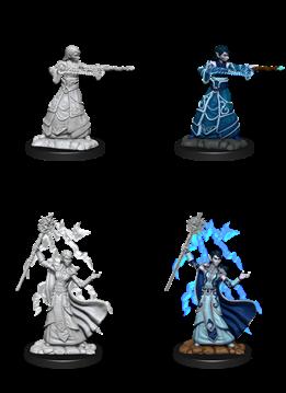 Female Elf Wizard - D&D Unpainted Minis (WV12)