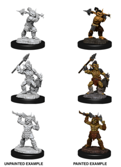 Goblin and Goblin Boss - D&D Unpainted Minis (WV12)