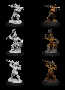 Goblin and Goblin Boss - D&D Unpainted Minis (WV12)