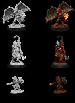 Kobold Inventor, Dragonshield and Sorcerer - D&D Unpainted Minis (WV12)