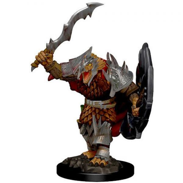 Male Dragonborn Fighter - D&D Icons of the Realm Premium Painted Figure