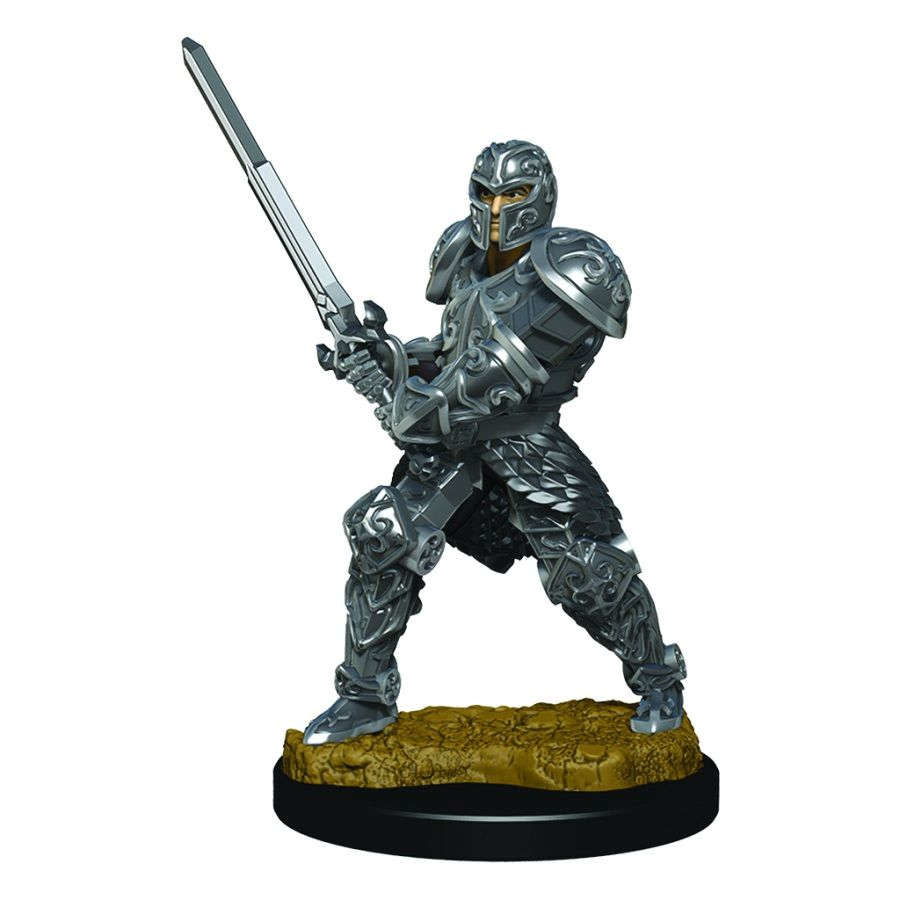 Male Human Fighter - D&D Icons of the Realm Premium Painted Figure