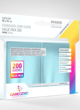 Gamegenic Standard Sleeves Value Pack (200)