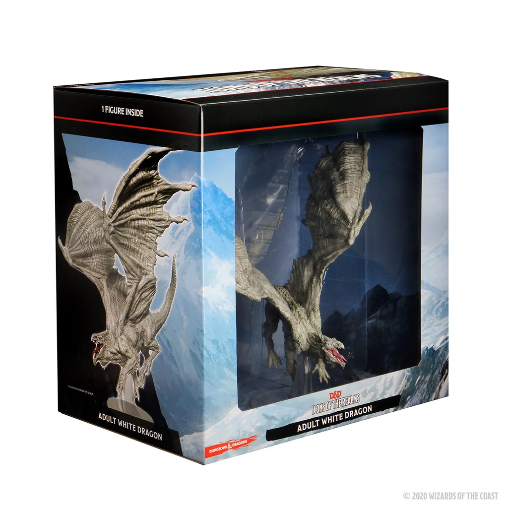 D&D Icons of the Realms: Adult White Dragon Premium