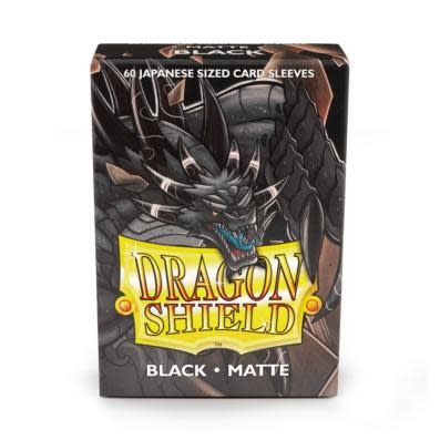 Dragon Shield Matte Japanese Sized Sleeves Black