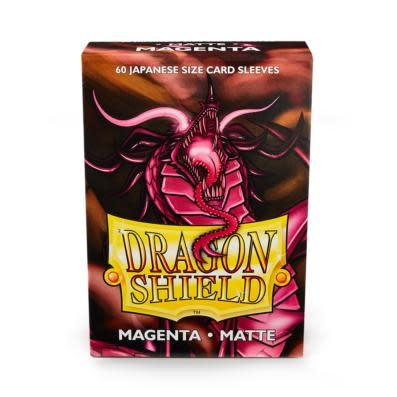 Dragon Shield Matte Japanese Sized Sleeves Magenta
