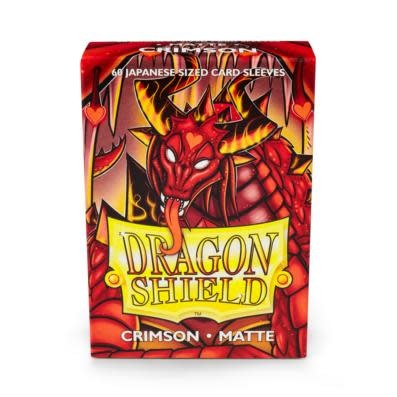 Dragon Shield Matte Japanese Sized Sleeves Crimson