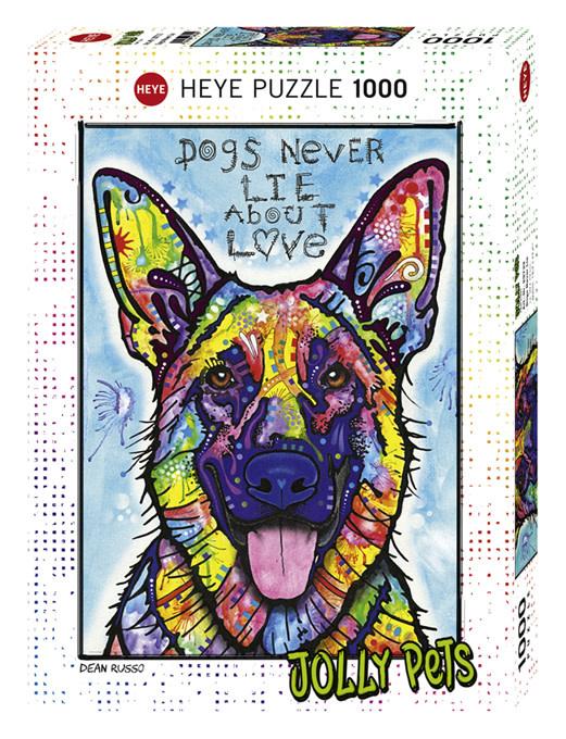 Puzzle: Dogs Never Lie - Jolly Pets, Russo (1000pcs)