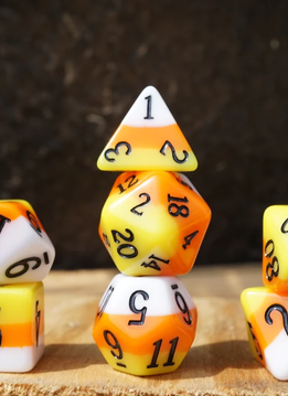 Ice Cream Dice: Candy Corn (Set of 11)