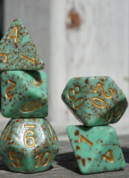 Ice Cream Dice: Mint Chocolate Gold (Set of 11)