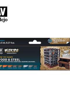 Wizkids Premium Paints: Wood and Steel (Set of 8)