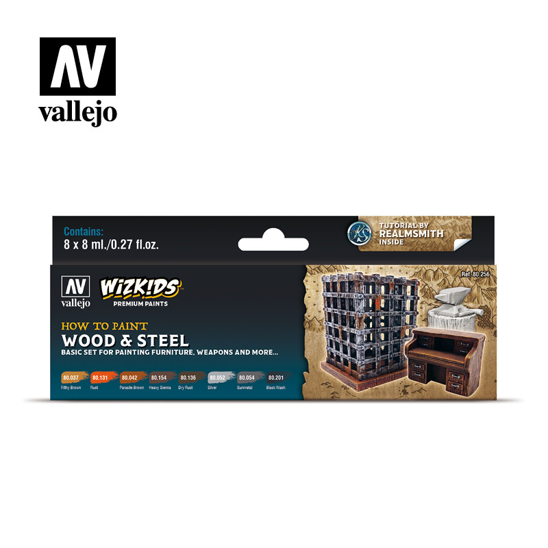 Wizkids Premium Paints: Wood and Steel (Set of 8)