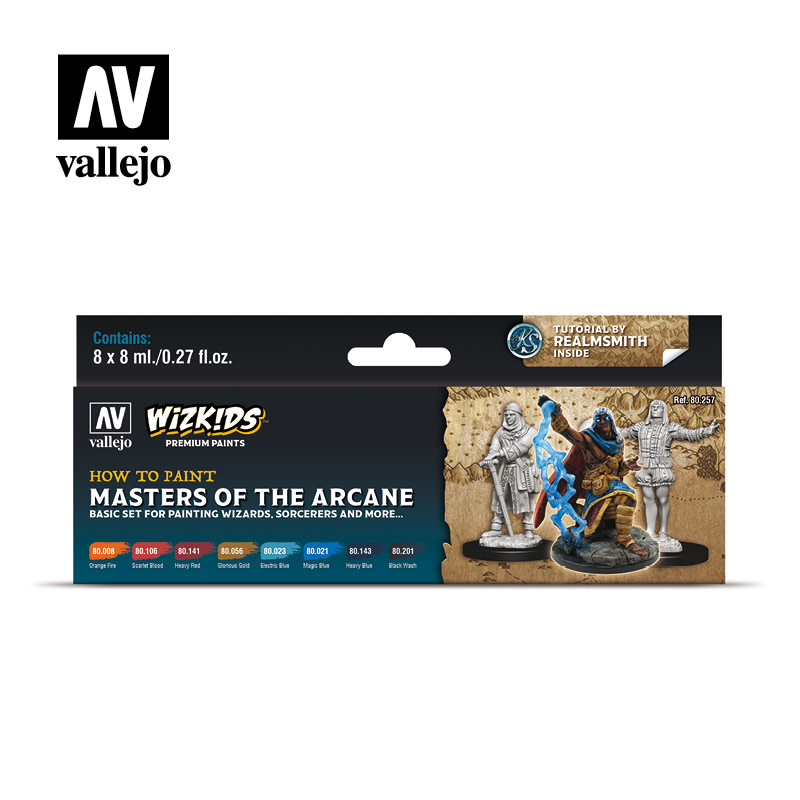 Wizkids Premium Paints: Masters of the Arcane (Set of 8)