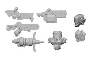 Warcaster - Marcher Worlds: Dusk Wolf B Weapon Pack