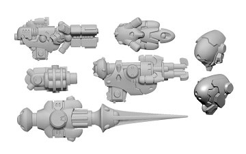Warcaster - ISA: Firebrand B Weapon Pack