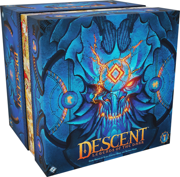Descent: Legends of the Dark with Hybrid Centurion promo fig and promo pack of cards.