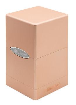 Deck Box: Metallic Rose Gold Satin Tower