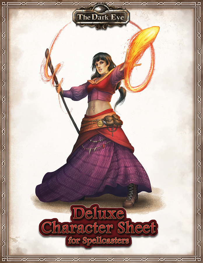 The Dark Eye: Deluxe Character Sheets for Spellcasters