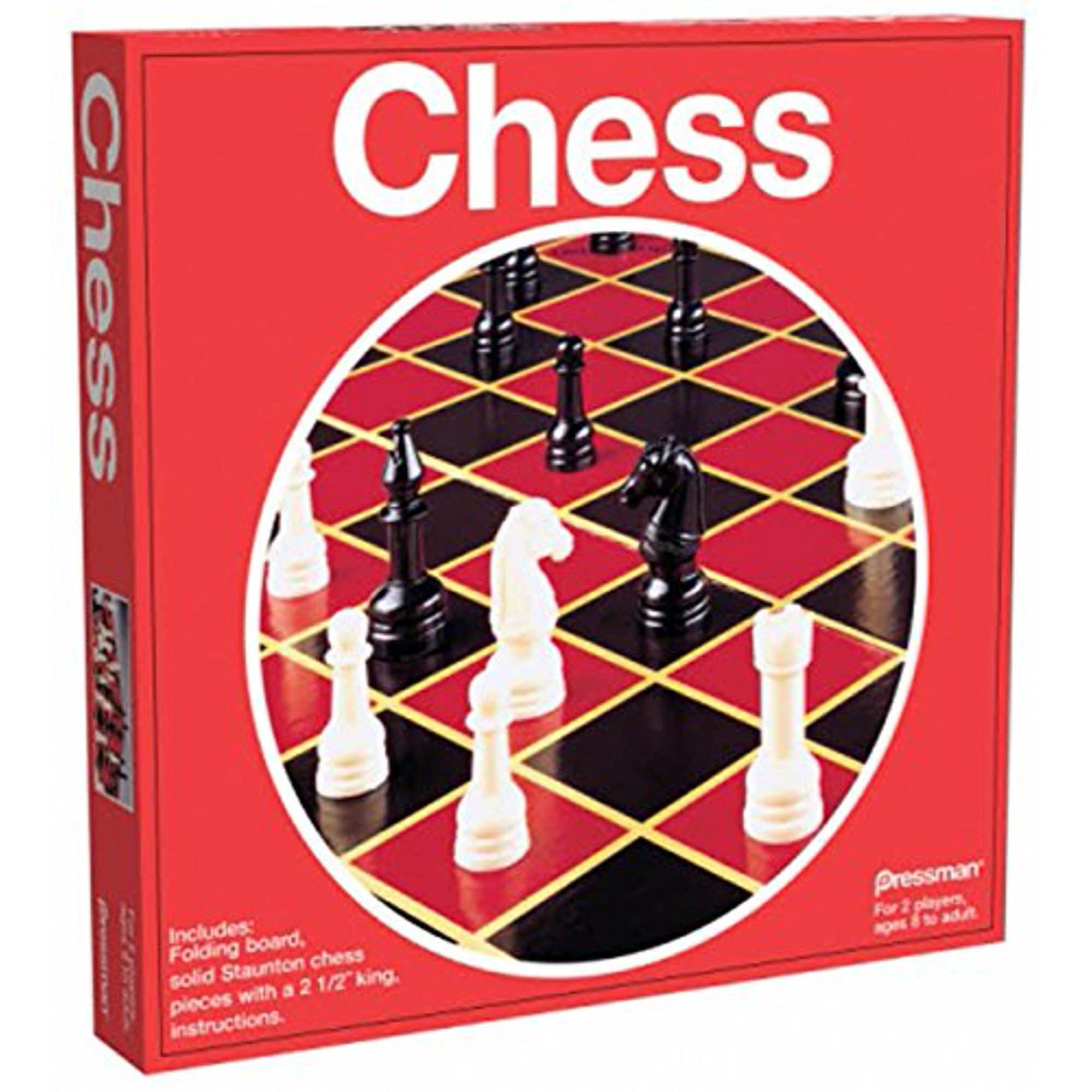 Echecs pliant, chess w/ Folding Board (Red Box)