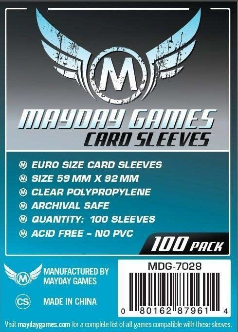 Mayday Euro Card Sleeves - 59mm X 92mm (100ct)