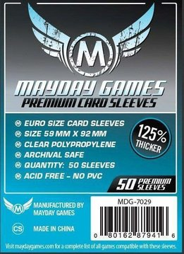 Mayday Premium Euro Card Sleeves - 59mm X 92mm (50ct)