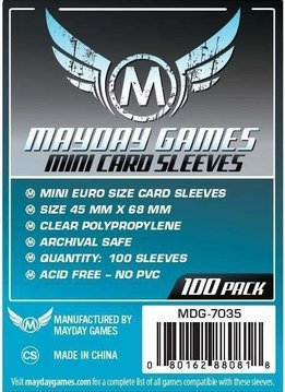 Mayday Mini-Euro Card Sleeves - 45mm X 68mm (100ct)