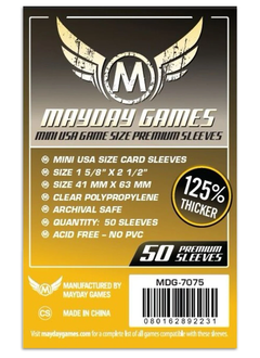 Mayday Premium Mini USA Card Sleeves - 41mm X 63mm (50ct)