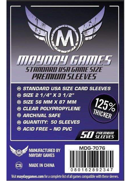 Mayday Premium USA Card Sleeves - 56mm X 87mm (50ct)
