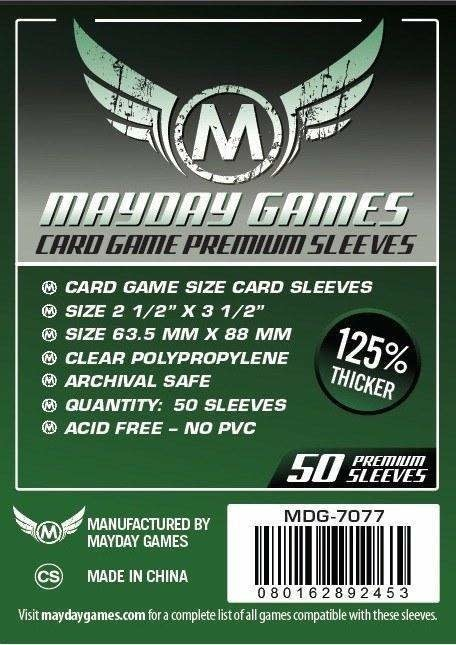 Mayday Premium Standard Card Sleeves - 63.5mm X 88mm (50ct)