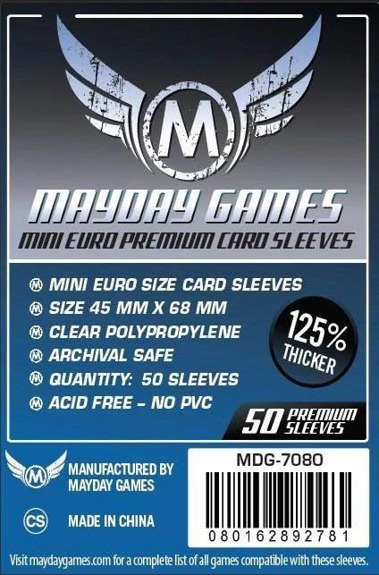 Mayday Premium Mini-Euro Card Sleeves - 45mm X 68mm (50ct)