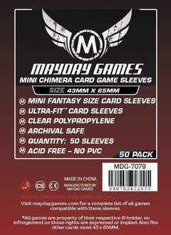 Mayday Premium Mini Chimera Card Sleeves - 43mm X 65mm (50ct)
