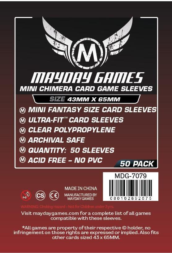 Mayday Premium Mini Chimera Card Sleeves - 43mm X 65mm (50ct)