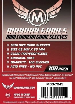 Mayday Mini Chimera Card Sleeves - 43mm X 65mm (100ct)