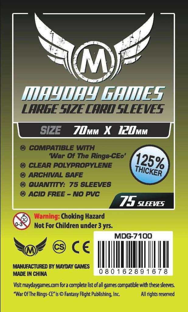 Mayday Premium Tarot Card Sleeves - 70mm X 120mm (75ct)