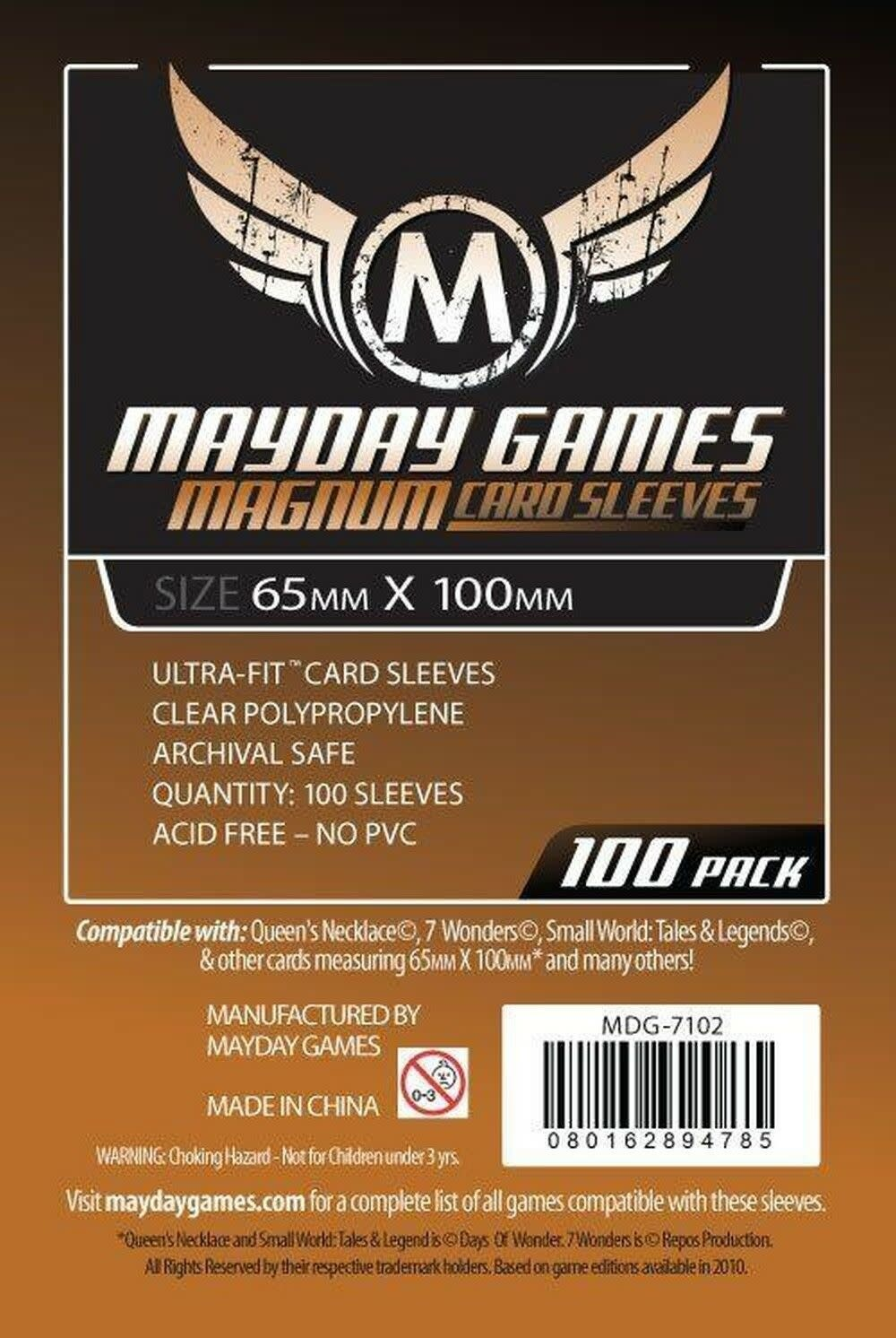 Mayday Magnum Copper Card Sleeves - 65mm X 100mm (100ct)