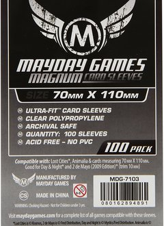 Mayday Magnum Silver Card Sleeves -  70mm X 110mm (100ct)
