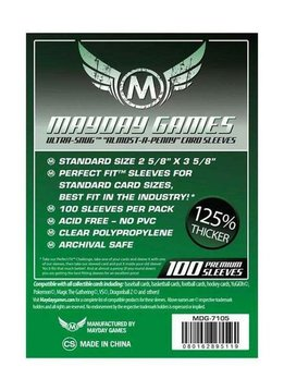 Mayday Almost-A-Penny Card Sleeves -  66.5mm X 92mm (100ct)