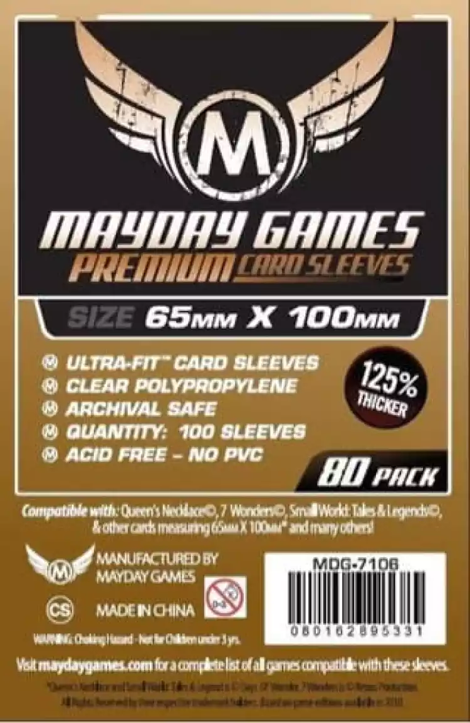 Mayday Premium Magnum Copper Card Sleeves -  65mm X 100mm (80ct)