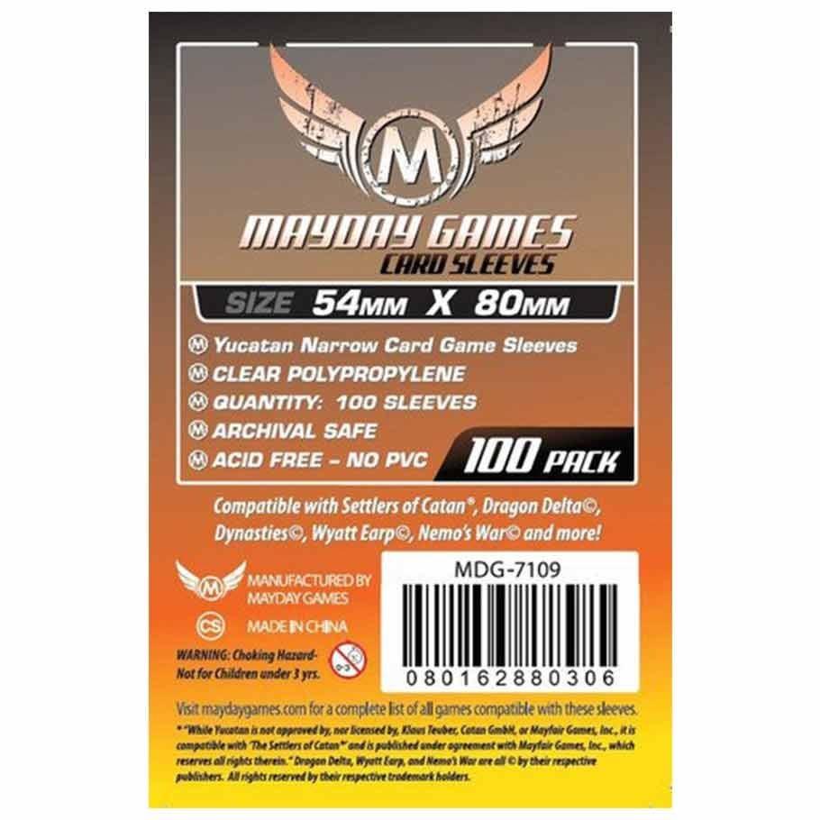 Mayday Yucatan Narrow Card Sleeves - 54mm X 80mm (100ct)