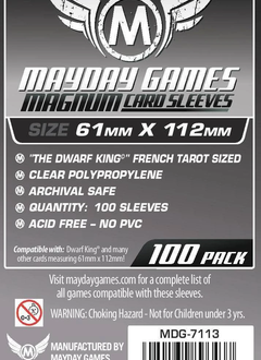 Mayday Magnum Platinum Card Sleeves - 61mm X 112mm (100ct)