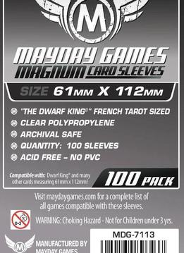 Mayday Magnum Platinum Card Sleeves - 61mm X 112mm (100ct)